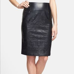 SUNDAY IN BROOKLYN | sz MP faux leather skirt